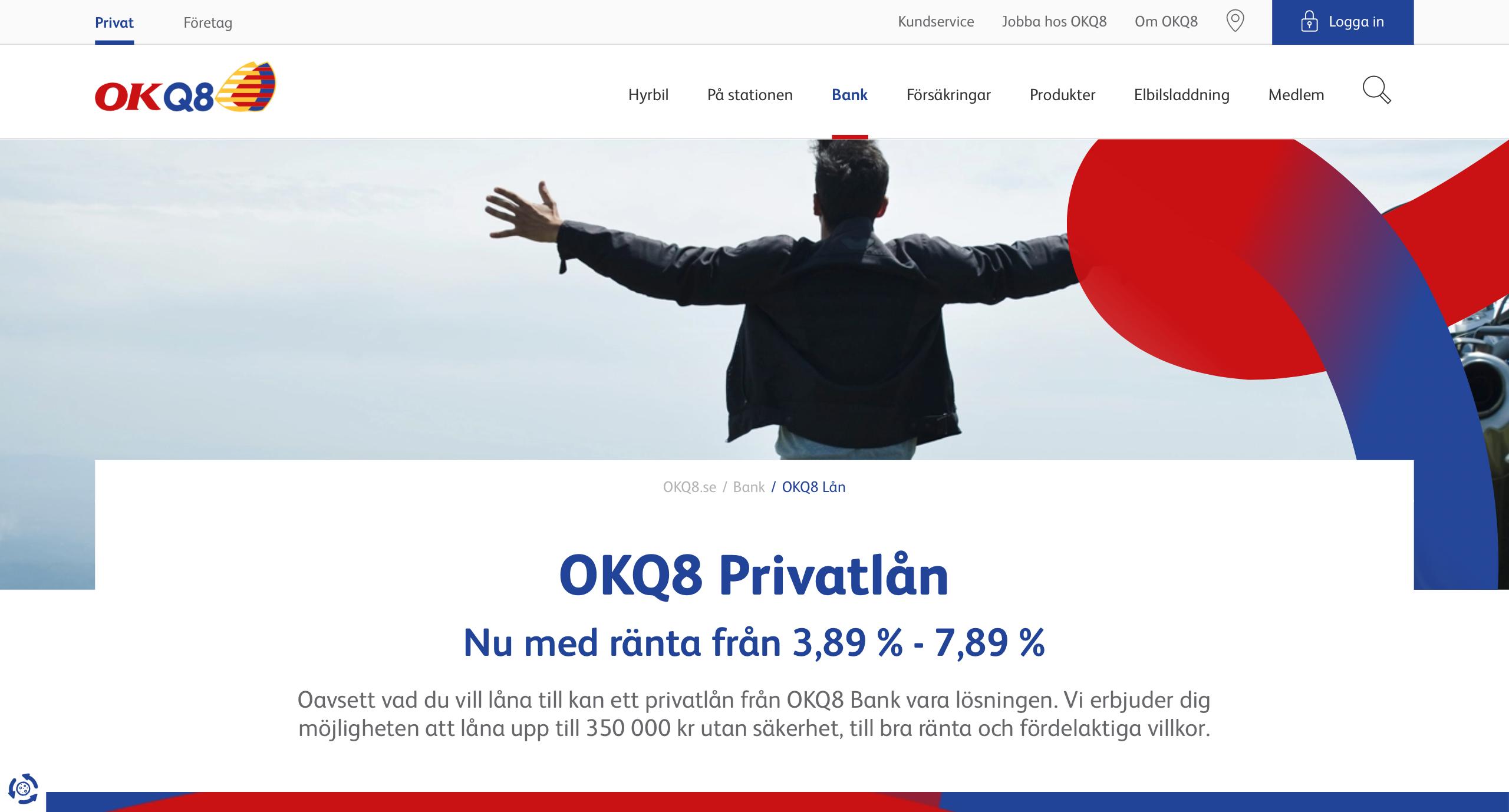 Lån från OKQ8 Bank